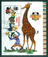 Tanzania 1994 Disney, Safari Club, Mickey & Giraffe MS FU Lot80096 - Swaziland (1968-...)