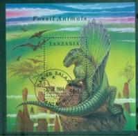 Tanzania 1994 Prehistoric Animals, Dinosaur MS CTO Lot84827 - Swaziland (1968-...)