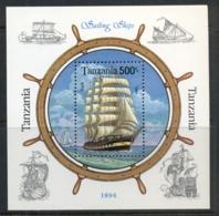 Tanzania 1994 Sailing Ships MS MUH - Swaziland (1968-...)