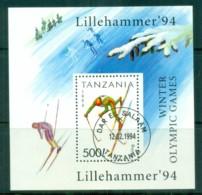 Tanzania 1994 Winter Olympics Lillehamer MS CTO Lot84823 - Swaziland (1968-...)
