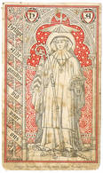 Zwevezele: Heilige Aldegondis, Maagd, Beschermheilige Der Kerk En Parochie Van Swevezeele ... (2 Scans) - Devotion Images