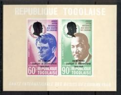 Togo 1969 Human Rights Kennedy, King Opt Eisenhower MS MUH - Togo (1960-...)