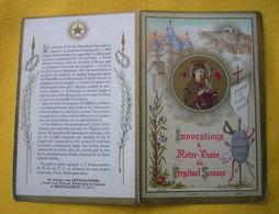 IMAGE PIEUSE Chromo + Texte : INVOCATION A NOTRE-DAME DU PERPETUEL SECOURS / HOLY CARD - Devotion Images