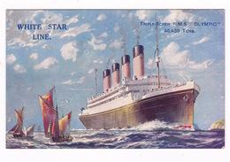 Jolie CP Coul. Paquebot Transatlantique Britannique RMS Olympic (1911–1934), White Star Line, - Paquebots
