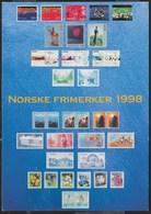 NORVEGIA - FRANCOBOLLI EMESSI 1998 - FORMATO GRANDE 17X12 - VIAGGIATA1999 FRANCOBOLLO ASPORTATO - Francobolli (rappresentazioni)