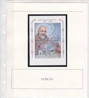 VATICAN:  Père Pio Pietrelina :Y&T : BF 19** - Blocchi E Foglietti