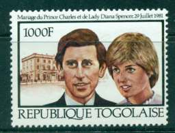 Togo 1981 Charles & Diana Wedding MUH Lot45270 - Togo (1960-...)