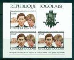 Togo 1981 Charles & Diana Wedding Sheetlet IMPERF MUH Lot45274 - Togo (1960-...)