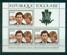 Togo 1981 Charles & Diana Wedding Sheetlet MUH Lot45273 - Togo (1960-...)
