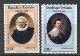 Togo 1981 Easter, Rembrandt Paintings Airmail MUH - Togo (1960-...)