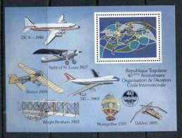 Togo 1984 Intl. Civil Aviation Org., Planes MS MLH - Togo (1960-...)
