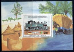 Togo 1984 Mattel Locomotive MS MLH - Togo (1960-...)