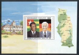 Togo 1984 Pres Eyadema & Helmut Kohl MS MLH - Togo (1960-...)