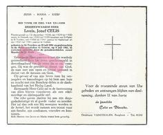 P 617. Z.E.H. CELIS - °ST-TRUIDEN 1901 / Rector HOESELT / Kapelaanvan ST-PIETER/ HALEMAAL EN + GOTEM 1961 - Devotion Images