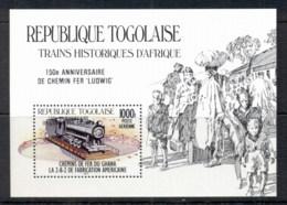 Togo 1985 Trains Opt Ludwig MS MUH - Togo (1960-...)