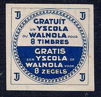 VIGNETTE - GRATUIT Un YSCOLA Ou WALNOLA Pour 8 ZEGELS. - Fantasy Labels