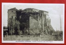 VILLAFRANCA LUNIGIANA  IL CASTELLO MALASPINA  VISTO DALLA MAGRA  VIAGGIATA 1931 - Massa