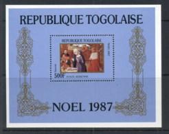 Togo 1987 Xmas Paintings MS MLH - Togo (1960-...)