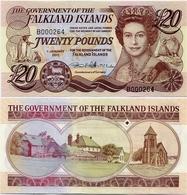 FALKLAND IS.        20 Pounds       P-19       1.1.2011         UNC - Isole Falkland