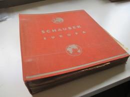Altes Schaubek VD Album / Selbstgestaltete Sammlung Europa Und USA. Klassik Bis 1940er Jahre Fundgrube?? Stöberposten - Stamps