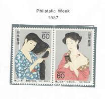 Giappone PO 1987 Filatelic Week Scott.1738a+See Scan On Scott.Page; - 1926-89 Imperatore Hirohito (Periodo Showa)
