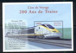 Togo 2000 200 Years Of Trains Eurostar MS MUH - Togo (1960-...)