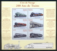 Togo 2000 200 Years Of Trains Sheetlet MUH - Togo (1960-...)