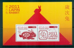 Togo 2011 New Year Of The Rabbit MS MUH Lot81521 - Togo (1960-...)