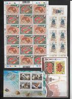 SINGAPORE - COLLECTION 4 PAGES ** (MAJORITE 1997/98)  - COTE YVERT = 330 EURO - FORTE VALEUR FACIALE - Singapour (1959-...)