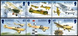 ~~~ Alderney 1995 - Tommy Rose Airplane - Mi.  83/88 ** MNH ~~~ - Alderney