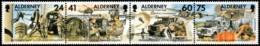 ~~~ Alderney 1996 - Military Signal Regiment - Mi.  90/93 ** MNH ~~~ - Alderney