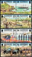 ~~~ Alderney 1997 - Garrison History - Mi.  108/115 ** MNH ~~~ - Alderney