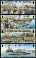 ~~~ Alderney 2001 - Garrison History - Mi.  179/186 ** MNH ~~~ - Alderney