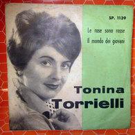 """TONINA TORRIELLI LE ROSE SONO ROSSE COVER NO VINYL 45 GIRI - 7"""" - Accessori & Bustine"""