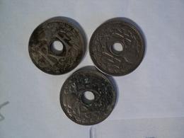 LOT DE 3 PIECES DE 5 CENTIMES LINDAUER PETIT MODULE. 1925 / 1931 ET 1935. CUPRO NICKEL - C. 5 Centimes