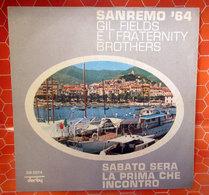 "GIL FIELDS E I FRATERNITY BROTHERS SABATO SERA COVER NO VINYL 45 GIRI - 7"" - Accessori & Bustine"