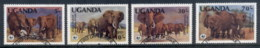 Uganda 1983 WWF African Elephants FU - Uganda (1962-...)