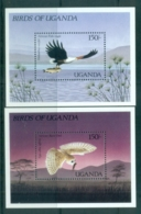 Uganda 1987 Birds 2xMS MUH - Uganda (1962-...)