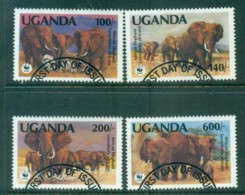 Uganda 1991 WWF African Elephant FU Lot81587 - Uganda (1962-...)