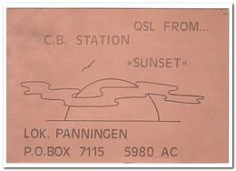 Sunset, Panningen - QSL-Kaarten
