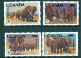 Uganda 1991 WWF African Elephant MUH Lot73148 - Uganda (1962-...)