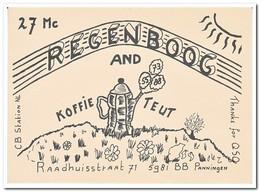 Regenboog And Koffieteut, Panningen - QSL-Kaarten