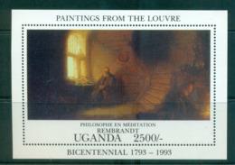 Uganda 1993 Paintings From The Louvre, Rembrandt MS MUH Lot55280 - Uganda (1962-...)