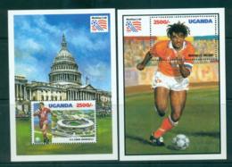 Uganda 1993 World Cup Soccer 2x MS MUH Lot55282 - Uganda (1962-...)