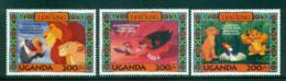 Uganda 1994 3x 200/- Lion King MUH Lot59515 - Uganda (1962-...)
