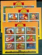Uganda 1994 Disney, Lion King 3x MS MUH Lot77503 - Uganda (1962-...)