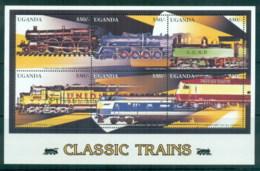 Uganda 1996 Classic Trains MS MUH - Uganda (1962-...)