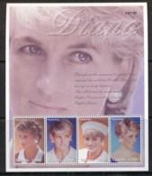 Uganda 1997 Princess Diana In Memoriam MS MUH - Uganda (1962-...)