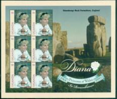 Uganda 1998 Princess Diana In Memoriam, Stonehenge MS MUH - Uganda (1962-...)
