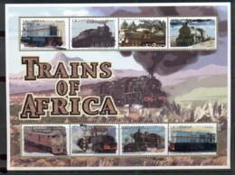 Uganda 2000 Trains Of Africa Sheetlet MUH - Uganda (1962-...)